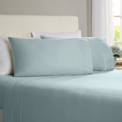 Hobbes 4 Piece 820 Thread Count Egyptian Quality Cotton Sheet Set Size: King, Color: Ocean Blue