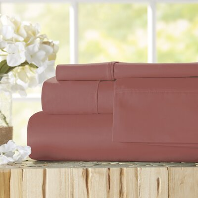 Twain Luxury 1000 Thread Count Egyptian Quality Cotton Sheet Set Color: Pomegranate, Size: King