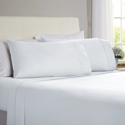 Hobbes 4 Piece 820 Thread Count Egyptian Quality Cotton Sheet Set Color: Light Blue, Size: King