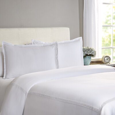 Cobbtown 300 Thread Count 100% Cotton Duvet Set Color: White, Size: Full / Queen