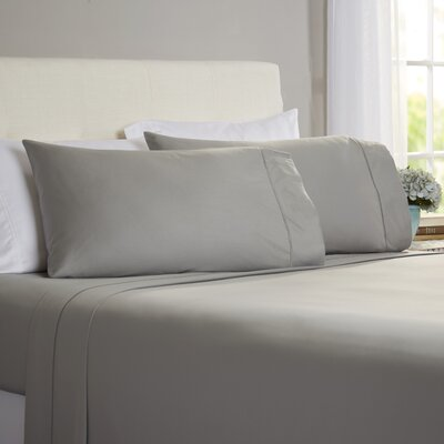 Hobbes 4 Piece 820 Thread Count Egyptian Quality Cotton Sheet Set Size: King, Color: Gray