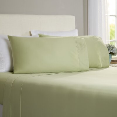 Hobbes 4 Piece 820 Thread Count Egyptian Quality Cotton Sheet Set Size: Queen, Color: Sage