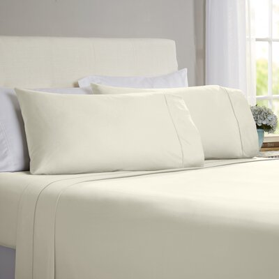 Hobbes 4 Piece 820 Thread Count Egyptian Quality Cotton Sheet Set Size: California King, Color: Ivory
