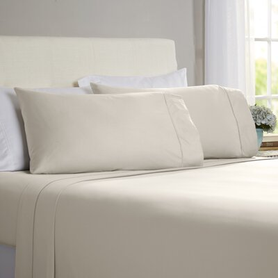 Hobbes 4 Piece 820 Thread Count Egyptian Quality Cotton Sheet Set Size: King, Color: Ash