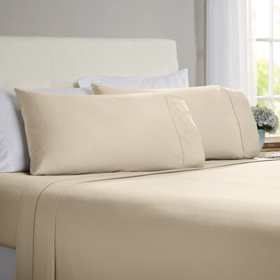 Hobbes 4 Piece 820 Thread Count Egyptian Quality Cotton Sheet Set Color: Taupe, Size: King