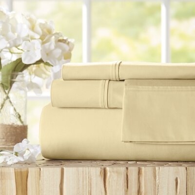 Twain Luxury 1000 Thread Count Egyptian Quality Cotton Sheet Set Color: Ivory, Size: King