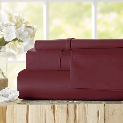 Twain Luxury 1000 Thread Count Egyptian Quality Cotton Sheet Set Color: Burgundy, Size: King