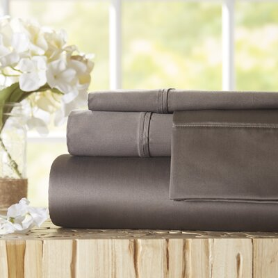 Twain Luxury 1000 Thread Count Egyptian Quality Cotton Sheet Set Color: Grey, Size: Queen