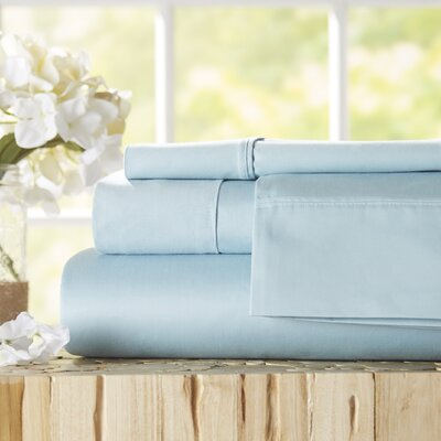 Twain Luxury 1000 Thread Count Egyptian Quality Cotton Sheet Set Color: Blue, Size: King