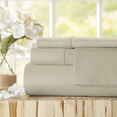Twain Luxury 1000 Thread Count Egyptian Quality Cotton Sheet Set Color: Pebble, Size: Queen