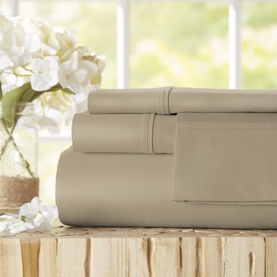 Twain Luxury 1000 Thread Count Egyptian Quality Cotton Sheet Set Color: Taupe, Size: King