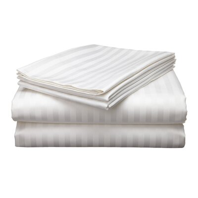 Wilde 800 Thread Count Egyptian Quality Cotton Stripe Pillow Cases Color: White
