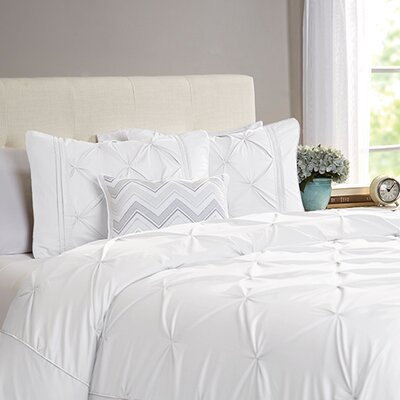 Flaubert 4 Piece Duvet Cover Set Size: King / California King, Color: White