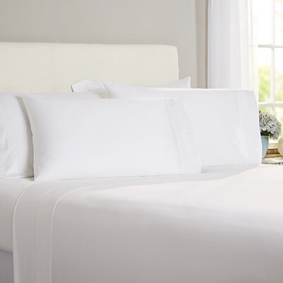 Austen Hemstitch 600 Thread Count 3 Piece Sheet Set Size: Cal King, Color: White