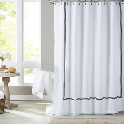 Miller Shower Curtain Color: Black