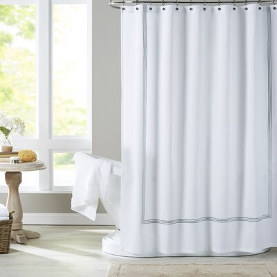 Miller Shower Curtain Color: Silver Blue