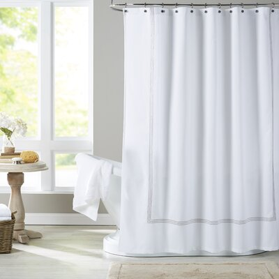 Miller Shower Curtain Color: Light Gray