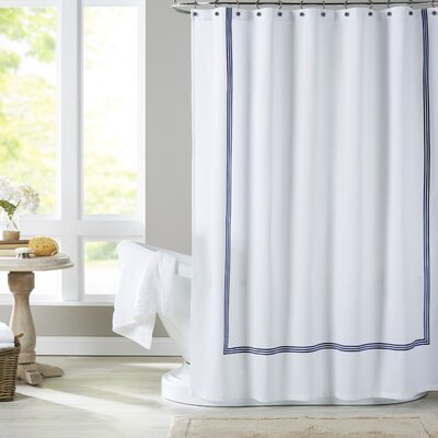 Miller Shower Curtain Color: Navy