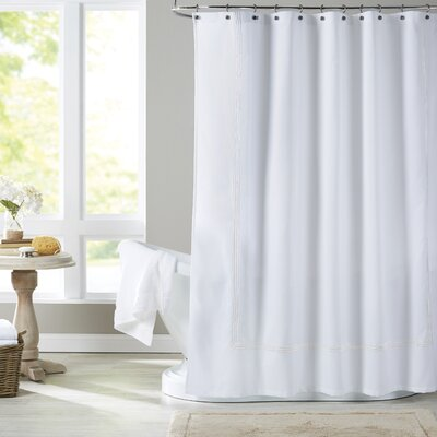 Miller Shower Curtain Color: White