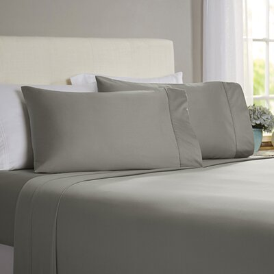 Poe 600 Thread Count Pima Solid Cotton Sheet Set Size: King, Color: Grey