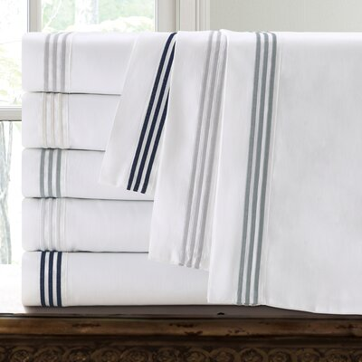 Miller 300 Thread Count Cotton Sheet Set Size: Full, Color: White