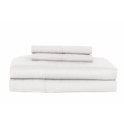 Hobbes 450 Thread Count Egyptian Quality Cotton Sheet Set Color: White, Size: Twin