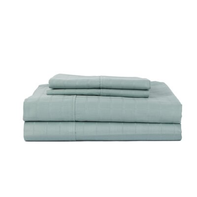 Hobbes 4 Piece 450 Thread Count Egyptian Quality Cotton Sheet Set Size: King, Color: Oceanblue