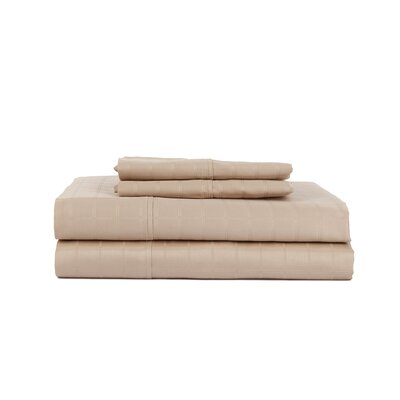 Hobbes 4 Piece 450 Thread Count Egyptian Quality Cotton Sheet Set Size: Queen, Color: Taupe
