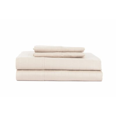 Hobbes 4 Piece 450 Thread Count Egyptian Quality Cotton Sheet Set Size: Queen, Color: Ash