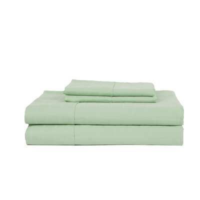 Hobbes 4 Piece 450 Thread Count Egyptian Quality Cotton Sheet Set Size: Queen, Color: Misty Jade
