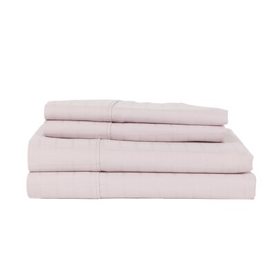 Hobbes 4 Piece 450 Thread Count Egyptian Quality Cotton Sheet Set Size: King, Color: Lavender