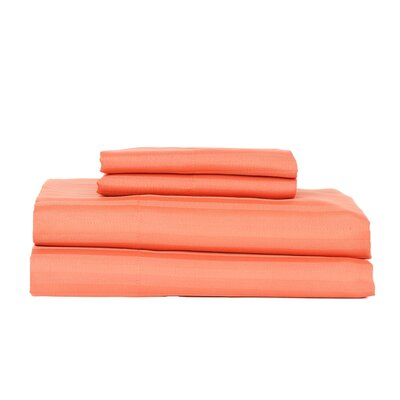 Hobbes 4 Piece 340 Thread Count Cotton Rich Sateen Sheet Set Size: Queen, Color: Spice
