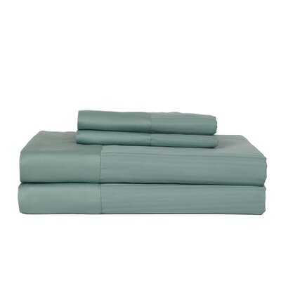 Hobbes 4 Piece 540 Thread Count Egyptian Quality Cotton Sheet Set Size: King, Color: Ocean Blue