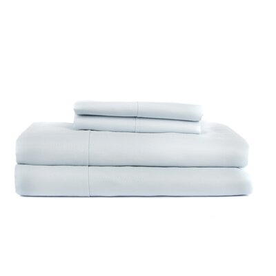 Hobbes 4 Piece 620 Thread Count Egyptian Quality Cotton Sheet Set Size: King, Color: Light Blue