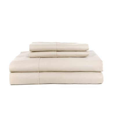 Hobbes 4 Piece 620 Thread Count Egyptian Quality Cotton Sheet Set Size: King, Color: Ash