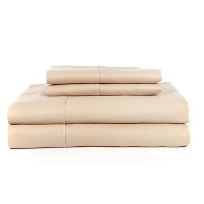 Hobbes 4 Piece 620 Thread Count Egyptian Quality Cotton Sheet Set Size: Queen, Color: Taupe