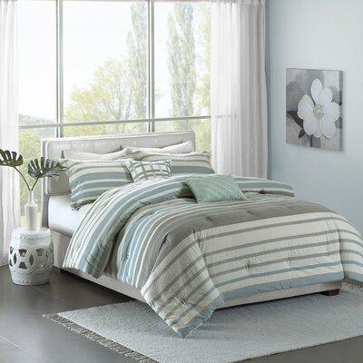 Marquez 5 Piece Comforter Set Size: Full / Queen, Color: Aqua