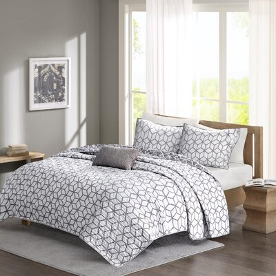 The Twillery Co. Godinne 4 Piece Coverlet Set 0575C388CA1449C2B4ED0BEB6F0CB198