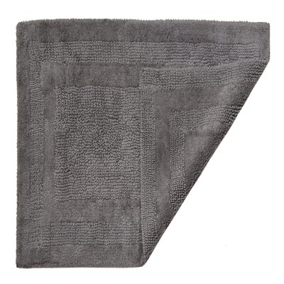 Clarke Bath Mat Color: Pewter, Size: 21 W x 34 L