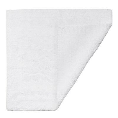 Clarke Bath Mat Color: White, Size: 21 W x 34 L