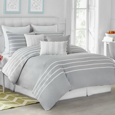 Andersen Reversible Comforter Set Color: Pearl Gray, Size: Full