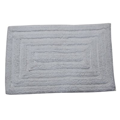 Irving 100% Cotton Racetrack Spray Latex Back Bath Rug Size: 24 H X 17 W, Color: White