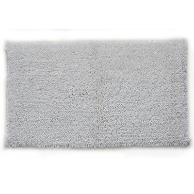 Keats 100% Cotton Melbourne Spray Latex Back Bath Rug Color: White, Size: 30 H X 20 W