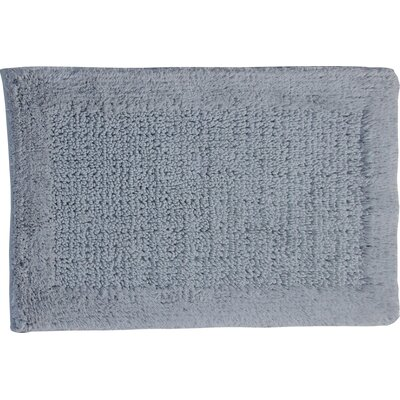 Radcliffe 100% Cotton Naples Spray Latex Back Bath Rug Color: Silver, Size: 40 H X 24 W