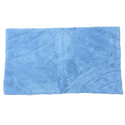 Barnes Diamond Bath Rug Color: Medium Blue, Size: 40 H X 24 W