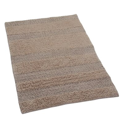 Verne 100% Cotton Wide Cut Reversible Bath Rug Color: Natural, Size: 40 H X 24 W