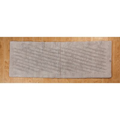 Verne 100% Cotton Shooting Star Reversible Bath Rug Size: 40 H X 24 W, Color: Silver