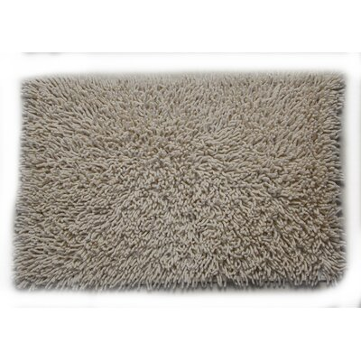 Eastcotts 100% Cotton Chenille Shaggy Spray Latex Back Bath Rug Size: 30 H X 20 W, Color: Ivory