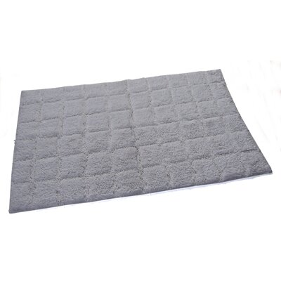 Proust 100% Cotton Summer Tile Spray Latex Back Bath Rug Color: White, Size: 34 H X 21 W