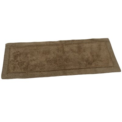 Golding 2 Piece 100% Cotton Bella Napoli Reversible Bath Rug Set Size: 24 H X 17 W and 34 H X 21 W, Color: Natural